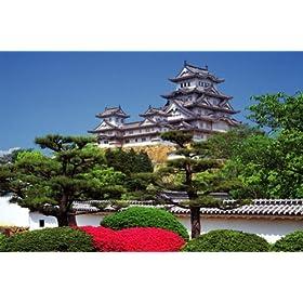 【クリックでお店のこの商品のページへ】1500ピース ツツジと姫路城(兵庫県姫路市) 15-119