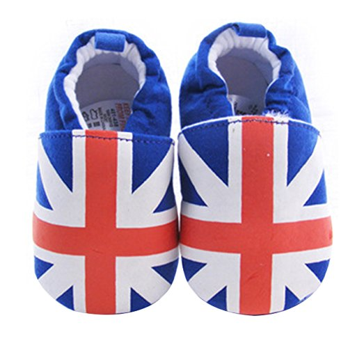 Little Hand Unisex Baby Soft Uk Flag Designs Pre-Walkers Shoes front-949373