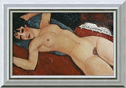 Canvas Art Framed 'Reclining Nude' by Amedeo Modigliani
