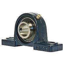 UCP205 Pillow Block Mounted Bearing, 2 Bolt, 25mm Inside Diameter, Set screw Lock, Cast Iron, Metric