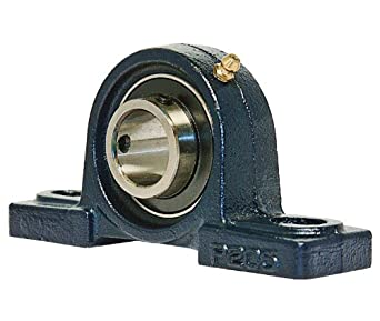 UCP205 Pillow Block Mounted Bearing, 2 Bolt, 25mm Inside Diameter, Set screw Lock, Cast Iron, Metric