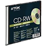 TDK T18791 700MB 12x Speed 80min CD-RW Slim Jewel Case