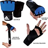 Gungfu Adidas Gel Boxing & MMA Glove Wrap – Black/Blue, Size: Adult Large/X-Large