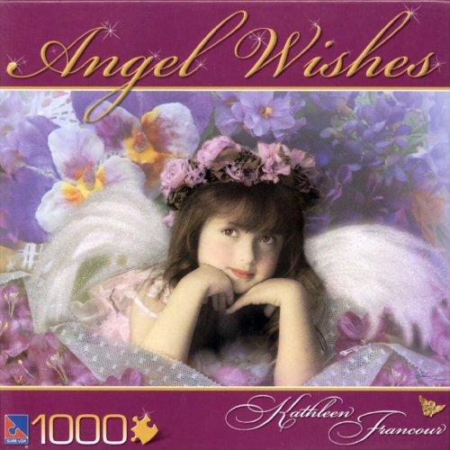 Angel Wishes Puzzle by Kathleen Francour : Vintage Violet