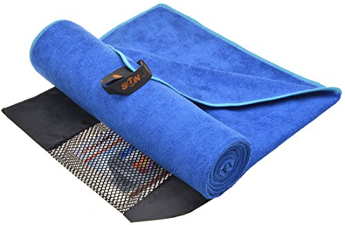 Sunland asciugamani microfibra super assorbente asciugamani sportive asciugamani palestra asciugamani bagno 40cmx80cm Blu Navy