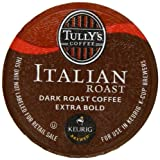 Tully's Italian Roast K-Cup packs for Keurig Brewers, 0.40 oz (Pack of 50) by Tully's Coffee