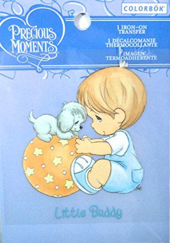 "Colorbok Precious Moments Iron On Transfer ""Little Buddy"". front-194665"