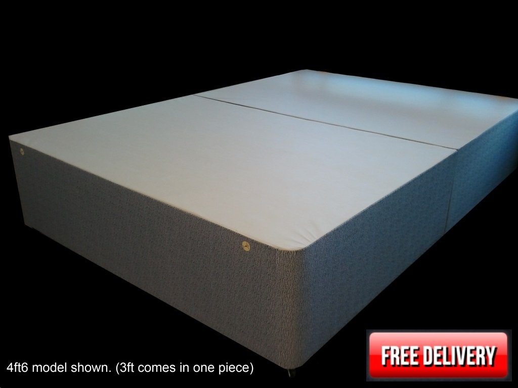 4ft Divan Base   small double divan bed base only   Damask Fabric       Customer reviews