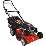 """GARDENING SEASON SALE - Frisky Fox PLUS 20"""" QUAD-CUT Self Propelled Petrol Lawn Mower 4-in-1 Mulching, Cutting, Collecting & Side Discharge Powered By 5.5HP 4-Stoke OHV Engine with Fitted Lawn Striper and 55L Grass Collection Bag"""