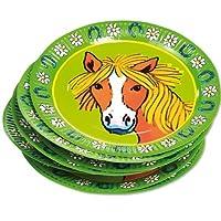 8 Party-Teller * Pferde / Pony * für Kindergeburtstag von Lutz Mauder // 11112 // Kinder Geburtstag Party Kinderparty Kinderfest Fete Pferdchen Mädchen Reiter Reiten Pappteller von Mauder