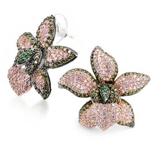 bling-jewelry-cz-peridot-color-stud-florde-orquidea-allanar-stud-arete