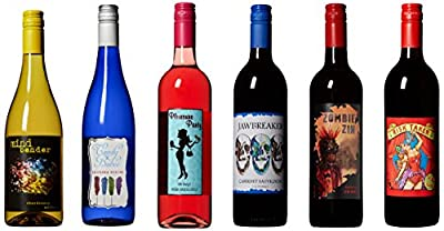 Craft Wine ALL IN Mixed Pack Non Vintage California Cabernet Sauvignon, Chardonnay, Riesling, Zinfandel, Sweet Blush, Red Wine Blend 6 x 750 mL by Chateau Diana Winery
