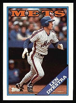 1988 Topps # 655 Len Dykstra New York Mets (Baseball Card) Dean's Cards 8 - NM/MT