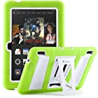 i-Blason Kindle Fire HDX 7 ArmorBox 2 Layer Convertible [Hybrid] Full-Body Protection KickStand Case with Built-in Screen Protector for Kids Friendly (Green/White)