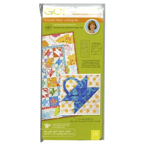 Accuquilt Go! Fabric Cutting Dies; Bountiful Basket front-13566