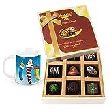 Joy To The World Dark Chocolate Gift Box With Christmas Mug - Chocholik Belgium Chocolates