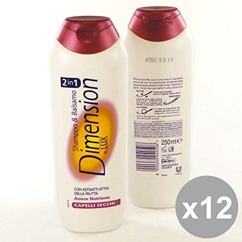 Set 12 DIMENSION Shampoo 2In1 250 Secchi Prodotti per capelli