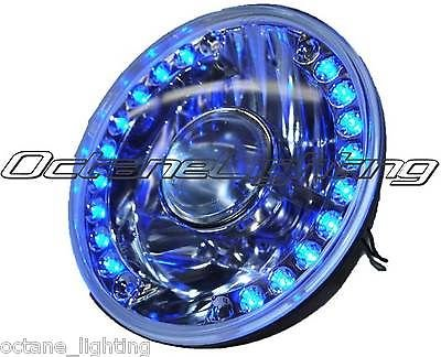 "Octane Lighting 7"" Projector Motorcycle Headlight Blue Led Halo Angel Eye Turn Signal Light Bulb front-798109"