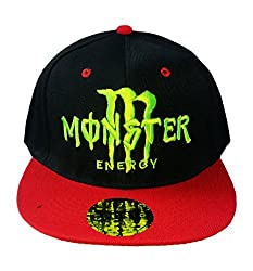 Monster Energy Hip Hop Cap (Black Red)