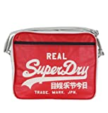 Superdry US9HC033F1 Alumni Football Mens Shoulder Bag Red/Navy