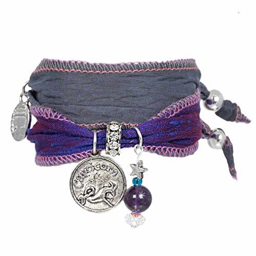 sternzeichen steinbock sari armband mit amethyst die m nze mit tierkeiszeichen swarovski. Black Bedroom Furniture Sets. Home Design Ideas