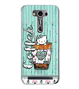 Coffee 2D Hard Polycarbonate Designer Back Case Cover for Asus Zenfone 2 Laser ZE550KL (5.5 INCHES)