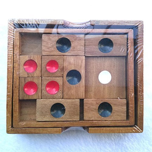 KINGOU Wooden Ancient Chinese Game Huarongdao Logic Puzzle Burr Puzzles Brain Teaser Intellectual Toy