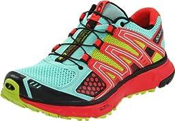 Salomon Women\'s XR Mission Running Shoe,Celedon/Papaya/Pop Green,8 M US