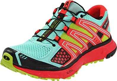 Salomon Women's XR Mission Running Shoe,Celedon/Papaya/Pop Green,9.5 M US