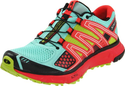 Salomon Women's XR Mission Running Shoe,Celedon/Papaya/Pop Green,9 M US