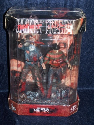 Picture of TMP International Movie Maniacs Series 1 Jason vs. Freddy Action Figure 2-Pack (B001RE9DOW) (TMP International Action Figures)