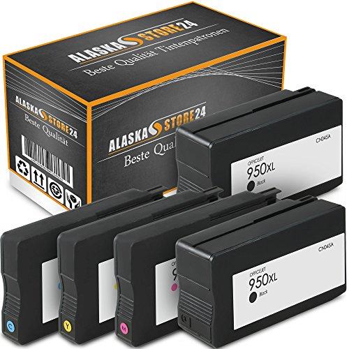 ATP 5er-Set Kompatible Tintenpatronen Druckerpatronen Ersatz für Hp 950 XL + HP 951 XL (Black , Blau , Magenta , Gelb) HomeSerie