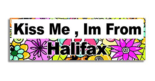 kiss-me-im-from-halifax-car-sticker-sign-coche-pegatina-decal-bumper-sign-5-colours-flowers