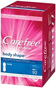 CAREFREE® ACTI-FRESH® Pantiliners Long To Go Unscented 4/92ct