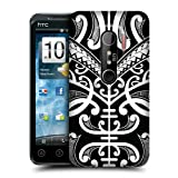 Head Case Face Tattoo Samoan Tattoo Protective Back Case Cover For HTC EVO 3D
