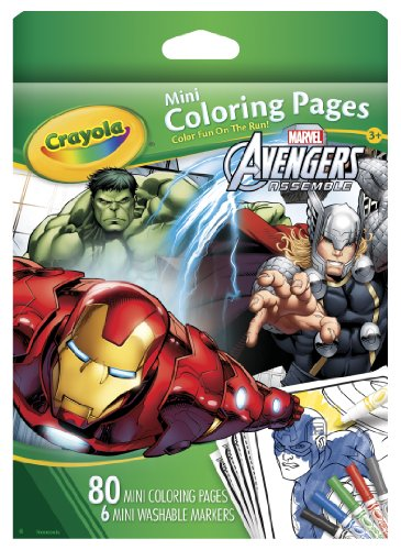 Crayola Avengers Mini Coloring Pages - 1