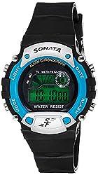 Sonata Digital Grey Dial Mens Watch - NG7982PP04J