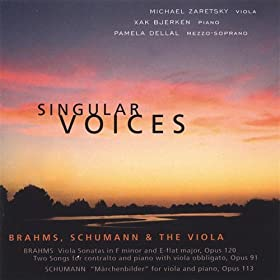 Brahms-Two Songs for Contralto and Piano With Viola Obligato, Op