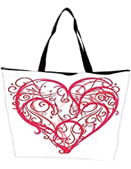 Snoogg Abstract Heart Vector Waterproof Bag Made Of High Strength Nylon