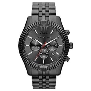 Michael Kors MK8320 - Reloj de pulsera hombre, acero inoxidable, color negro