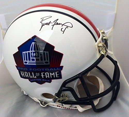 Brett Favre Signed Pro Line Hall Of Fame F/S Helmet JSA