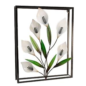 Framed 3D Metal Wall Art Decor Calla Lily