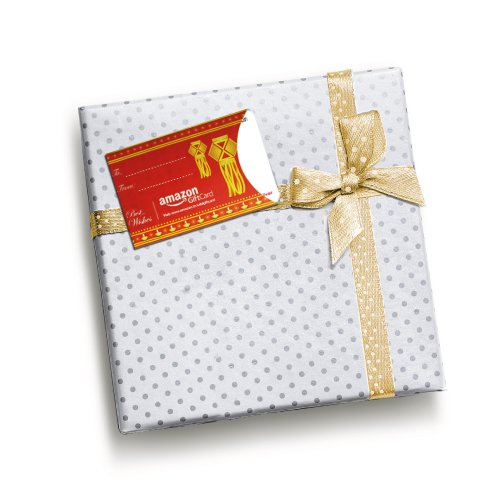 Amazon Gift Card Red Gift Tag (with sticker)