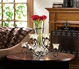 10015370 Wholesale Scrollwork Candle Stand with Vase Candles Candle Lantern Fire Heat Light Whmart by hyrekos