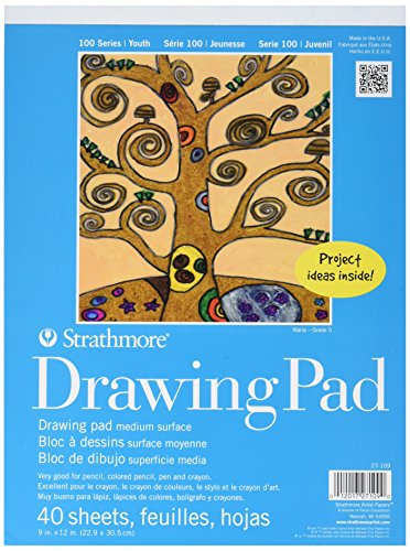 Strathmore-Kids-Drawing-Tape-Bound-Paper-Pad-9-X-12-Inches-ST27-109-1-40-sheets-Pack