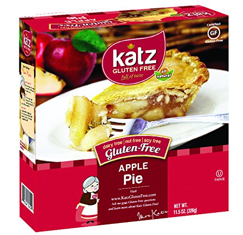 Katz Gluten Free Apple Pie, 11.5 Ounce, Certified Gluten Free - Kosher - Dairy, Nut & Soy free - (Pack of 6)