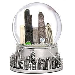Chicago Silver Mini Snow Globe