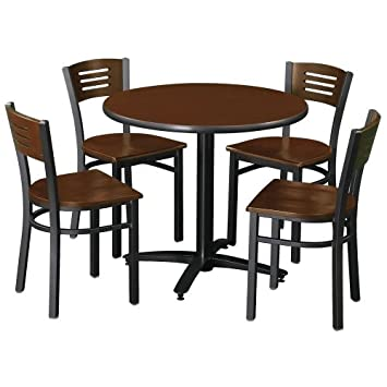 """KFI 36"""" Round Table and Four Cafe Chairs"""