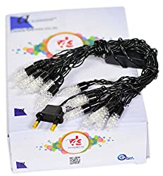 rocket disco shape black wire light 15 bulbs decoration lighting for diwali christmas (Multicolour) -3.5 meter