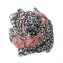 niceEshop(TM) New Fashion Chain Leopard Scarf-Pink